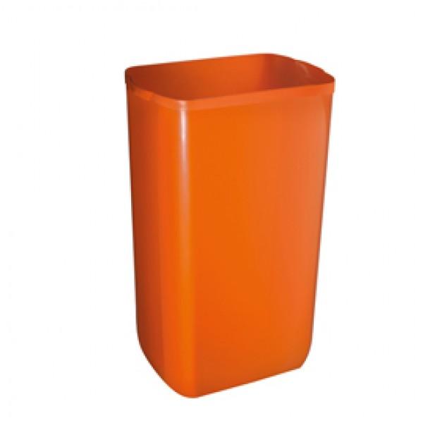 Cestino gettacarte Soft Touch - 33x22x49 cm - arancio - 23 L - Mar Plast