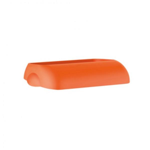 Coperchio per cestino gettacarte Soft Touch - 33,5x22,5x9 cm - 23 L - arancio - Mar Plast
