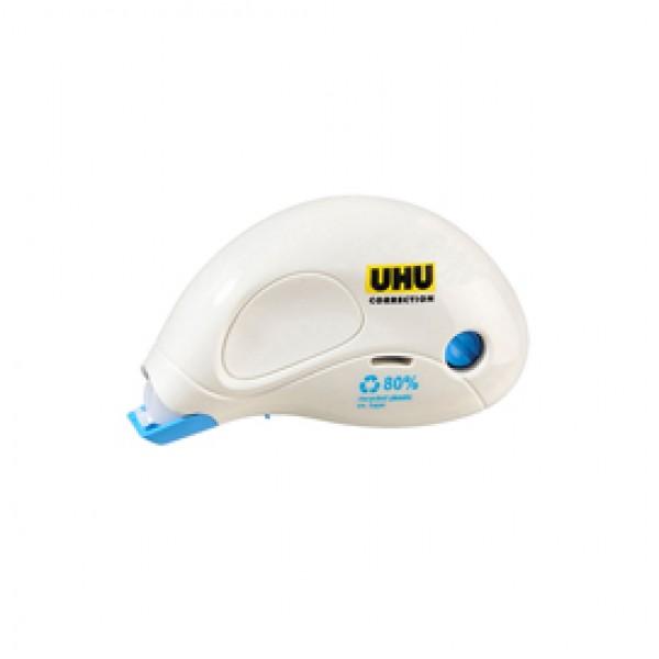 Correttore a nastro Compact Correction - 5mm x 10mt - 80% plastica riciclata - Uhu