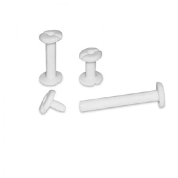 Viti sepolte - plastica - 40 mm - bianco - CWR - conf. 20 pezzi