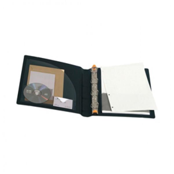 Raccoglitore Exabinder Exactive® - 4 anelli a D 30 mm - 29,7x24,2 cm - PPL - nero - Exacompta