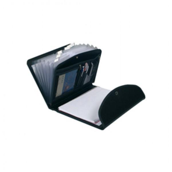 Classificatore Exafolio Exactive® - 6 scomparti - PPL - 25,5x33 cm - nero - Exacompta