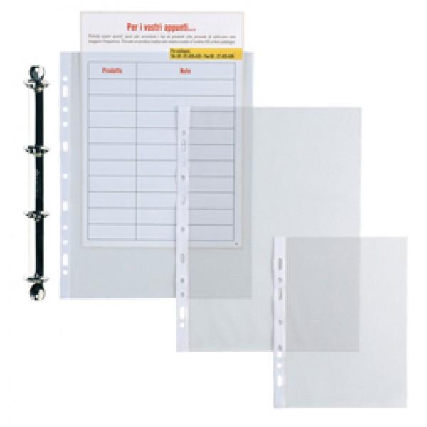 Buste forate Atla - leggera - buccia - 22x30 cm - trasparente - Sei Rota - conf. 50 pezzi