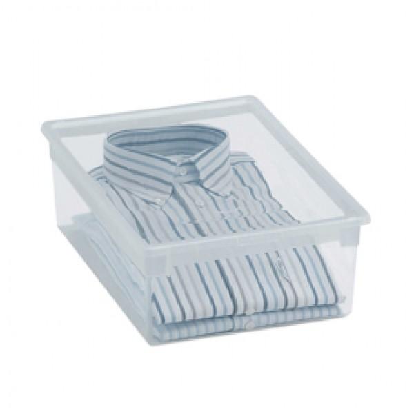 Contenitore multiuso Light Box M - 27,8x39,6x13,2 cm - 12 L - plastica - trasparente - Terry