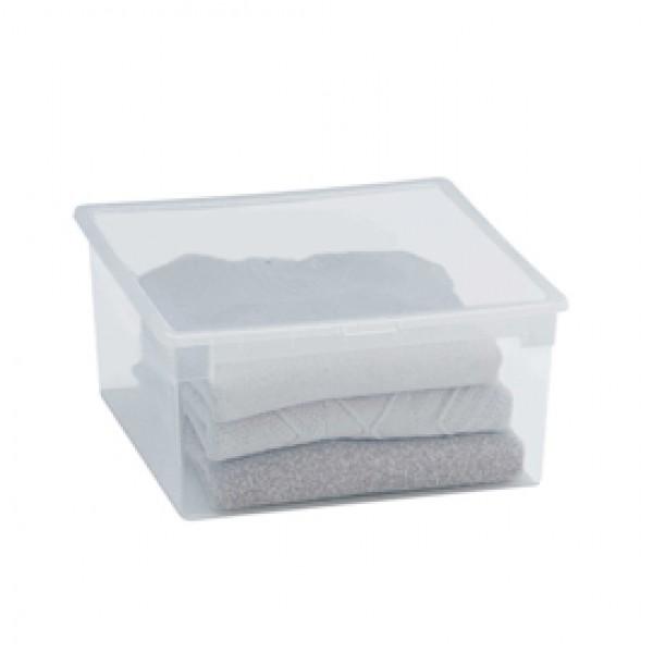 Contenitore multiuso Light Box L - 37,8x39,6x18,5 cm - 23 L - plastica - trasparente - Terry