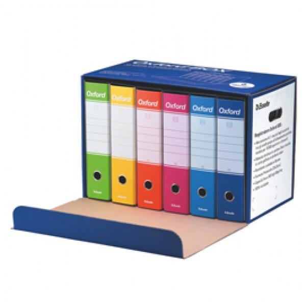 Scatola registratori Oxford Box G85 - dorso 8 cm - protocollo 23x33 cm - colori assortiti - Esselte - conf. 6 pezzi