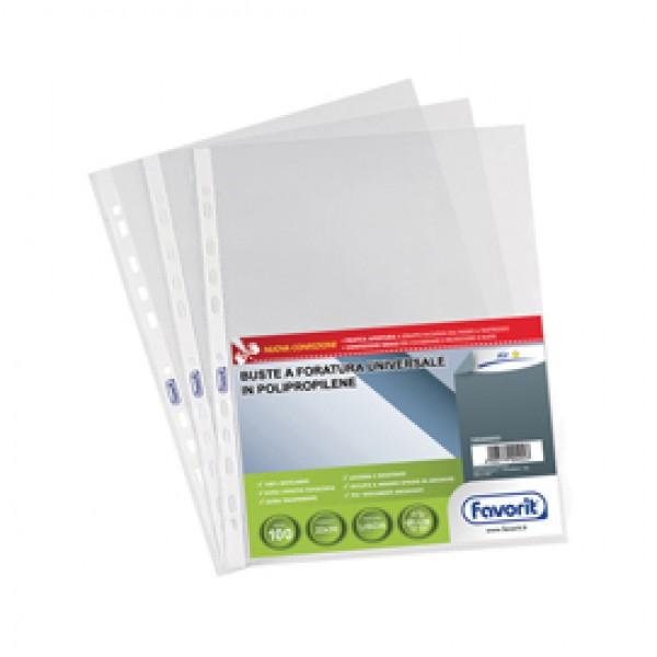 Buste forate Special PP - Air - liscio - 22x30 cm - trasparente - Favorit - conf. 100 pezzi