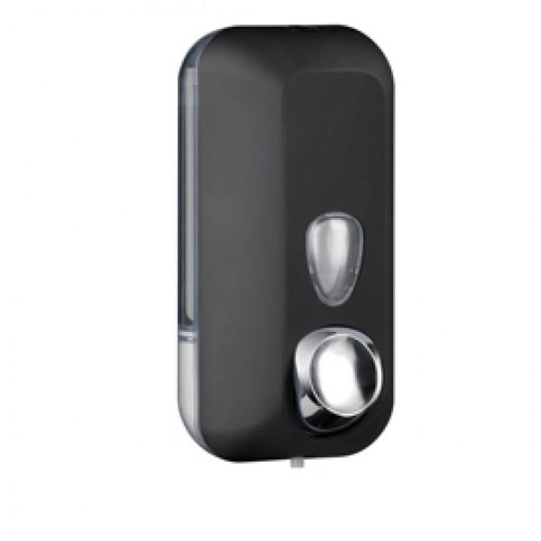 Dispenser Soft Touch per sapone liquido - 10,2x9x21,6 cm - capacità 0,55 L - nero - Mar Plast