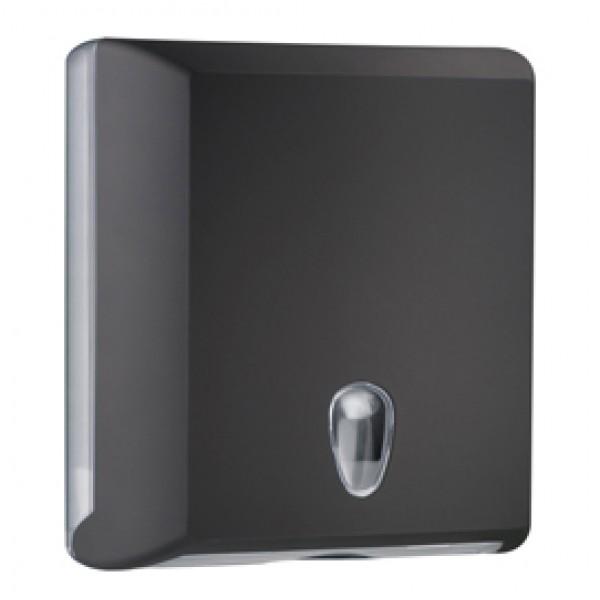 Dispenser asciugamani piegati Soft Touch - 29x10,5x30,5 cm - nero - Mar Plast