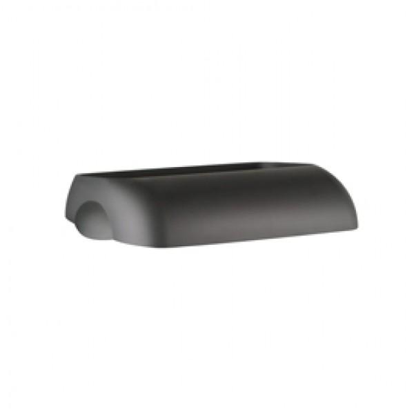 Coperchio per cestino gettacarte Soft Touch - 33,5x22,5x9 cm - 23 L - nero - Mar Plast