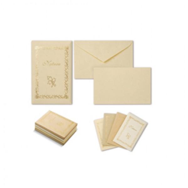 TASCHETTA 10biglietti+10buste F.to 9 9x14cm NATURA COLORI ASSORTITI ( Conf. 4 ) - 8028