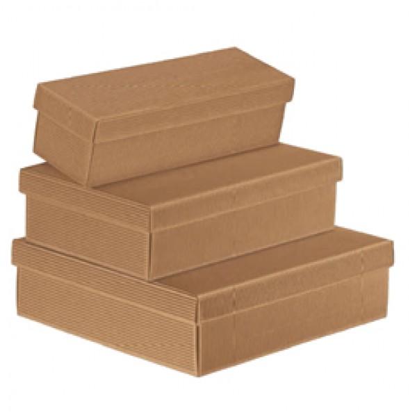 Scatola regalo in cartone - con coperchio - avana - 300 x 300 x 240cm - Scotton