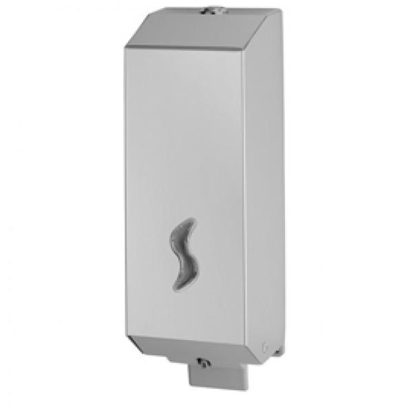 Dispenser per sapone liquido - 10x11x32 cm - capacità 1,2 L - acciaio inox - Medial International