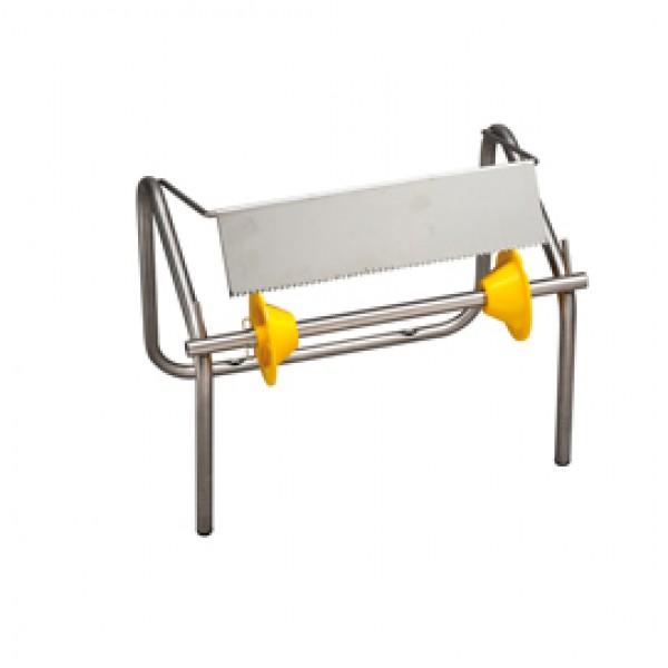 Porta bobina asciugatutto da muro - 93,2x27,5x34,5 cm - acciaio inox - Medial International