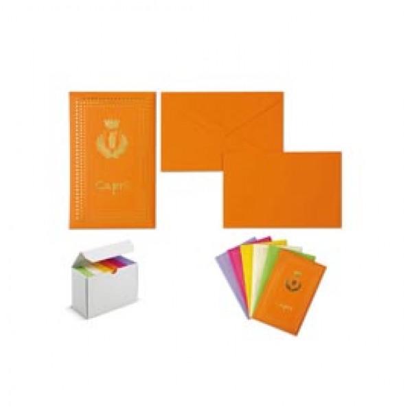 Taschetta 10 biglietti + 10 buste - Capri - colori assortiti - 9 x 14cm - Rex Sadoch