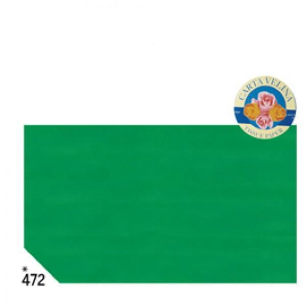 Carta velina -  50x70cm - 31gr - verde prato 472 - Rex Sadoch - busta 26 pezzi