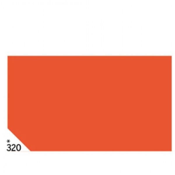 Carta velina -  50x70cm - 31gr - arancio 320 - Rex Sadoch - busta 26 pezzi