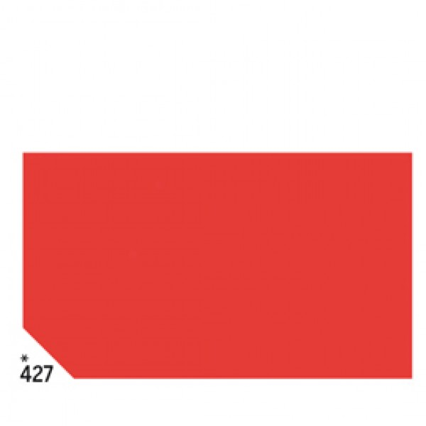 Carta velina -  50x70cm - 31gr - rosso 427 - Rex Sadoch - busta 26 pezzi