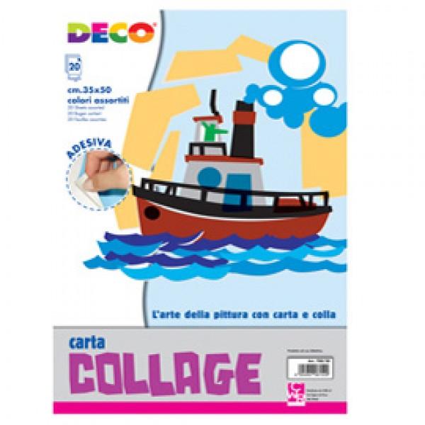 ALBUM CARTA RASATA ADESIVA 35X50cm 20fg colori assortiti CWR (Conf.5) - 700/20