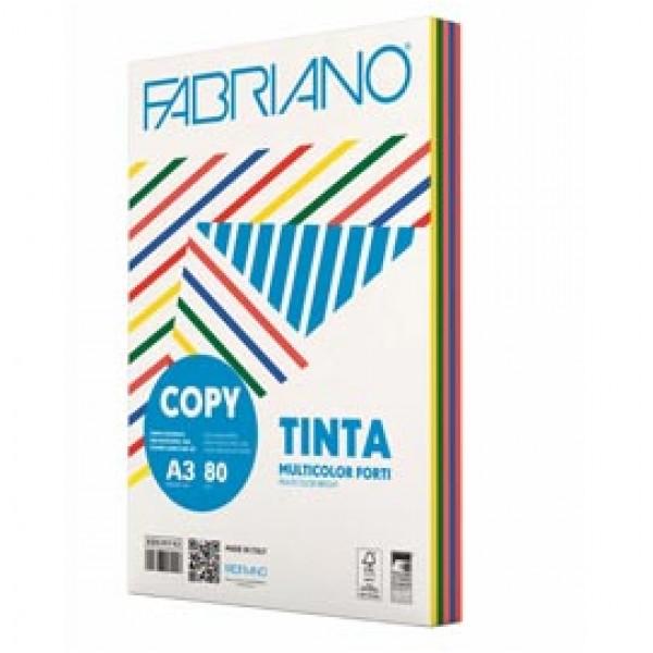 CARTA FABRIANO COPY TINTA MULTICOLOR A3 80 Gr. 250 fogli mix 5 colori forti