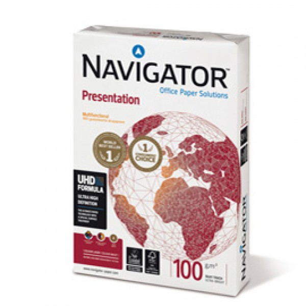 Carta Presentation 100 - A3 - 100 gr - bianco - Navigator - conf. 500 fogli
