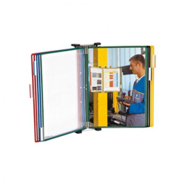 Leggio da muro T Technic - 10 tasche in PVC - colori assortiti - Tarifold