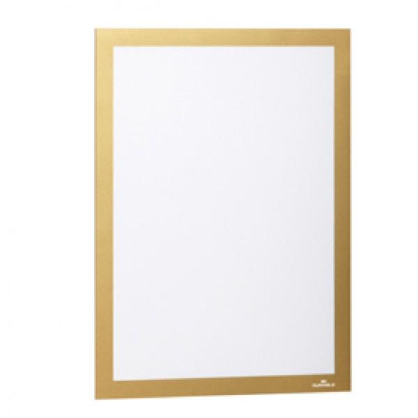 CORNICE MAGNETICA DURAFRAME A4 21X29,7cm ORO DURABLE ( Conf. 2) - 4872-30