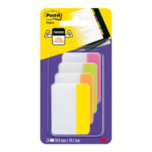 Blister 24 Post-It Index Strong 686-Ploy 50,8x38mm X Archivio - 23773