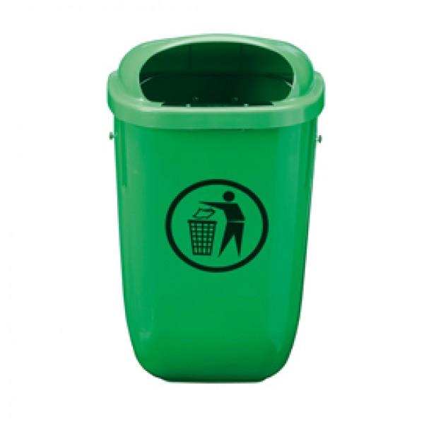 Gettacarte Classic - da esterni - 40x34,8x74,5 cm - 50 litri - verde - Medial International