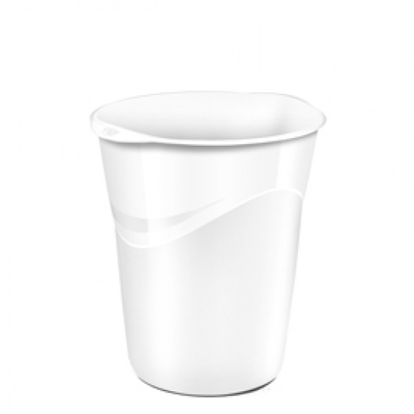 Cestino Gloss - altezza 33,4 cm - diametro 30,5 cm - 14 lt - bianco artico - CEP