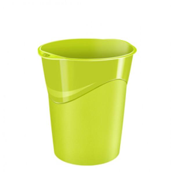 Cestino Gloss - 14 lt - altezza 33,4 cm - diametro 30,5 cm - verde anice - CEP