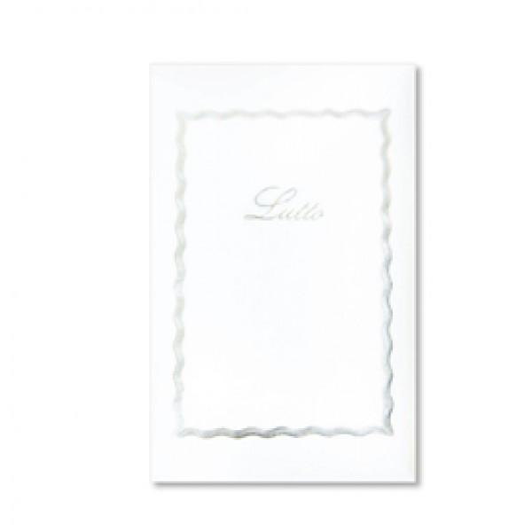 TASCHETTA 10biglietti+10buste LUTTO f.to 9 90x140mm SADOCH ( Conf. 25 ) - 8017
