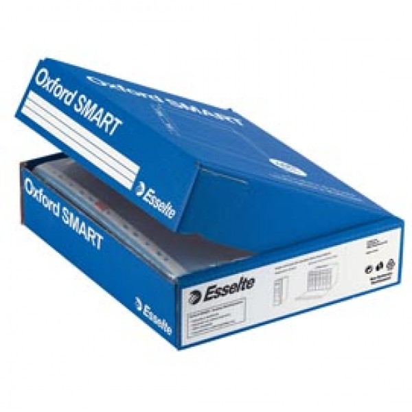 Buste forate Oxford Smart - Office - buccia - 22x30 cm - trasparente - Esselte - conf. 400 pezzi