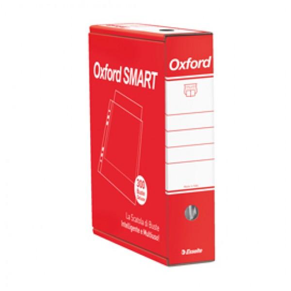 Buste forate Oxford Smart - De Luxe - buccia - 22x30 cm - trasparente - Esselte - conf. 300 pezzi