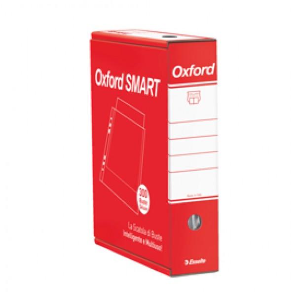 Buste forate Oxford Smart - De Luxe - liscio - 22x30 cm - trasparente - Esselte - conf. 300 pezzi