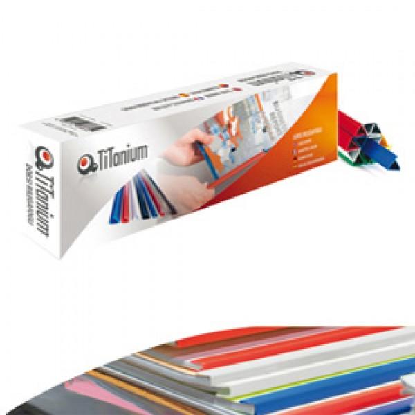 Dorsi per rilegatura - 8 mm - blu - Titanium - scatola 50 pezzi