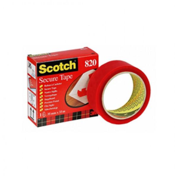 Nastro antieffrazione Scotch® Secure Tape - rosso - larghezza 35 mm - lunghezza 33 m