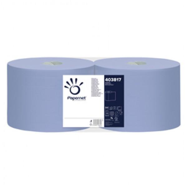 Bobina asciugatutto Superior - 3 veli - microgoffrata - diametro 30 cm - 20 gr -  21,5 cm  x190 mt - blu - Papernet