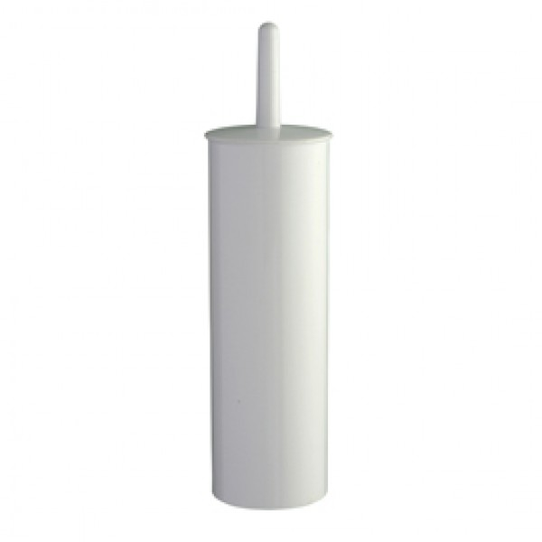 Portascopino Basica - da terra - ABS - diametro 10,3 cm - altezza 39,5 cm - bianco - Medial International