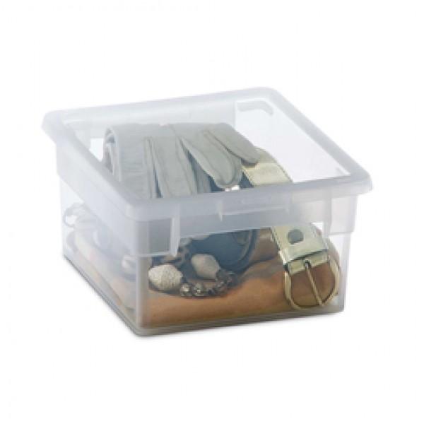 Contenitore multiuso Light Box S/2 - 17,8x20,4x10 cm - 2,5 L - plastica - trasparente - Terry