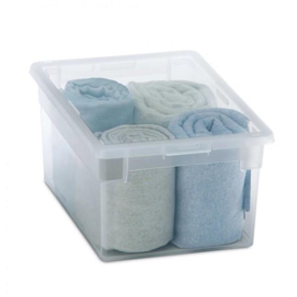 Contenitore multiuso Light Box M/2 - 19,5x28x13,2 cm - 6 L - plastica -  trasparente - Terry