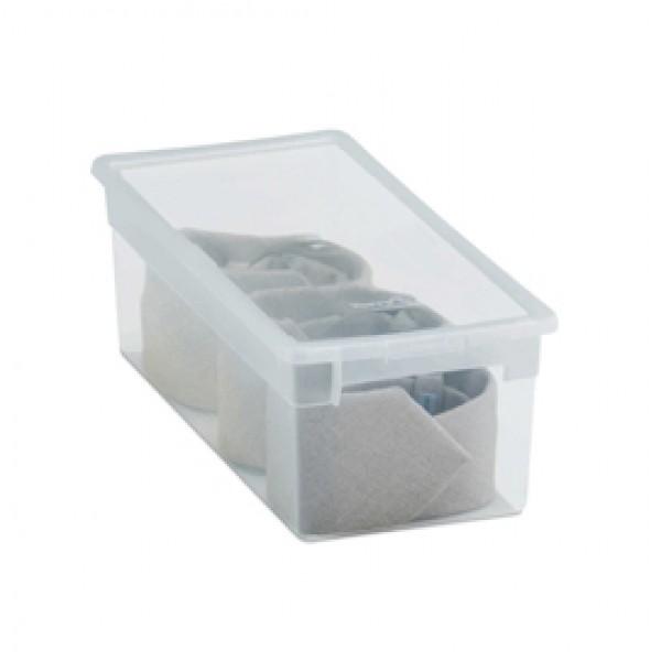 Contenitore multiuso Light Box S - 17,8x39,6x13,2 cm - 7 L - plastica - trasparente - Terry