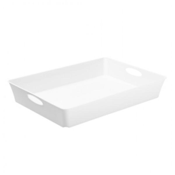 Vassoio multiuso Living Box - 37,5x26,6 cm - altezza 6 cm - bianco - Rotho
