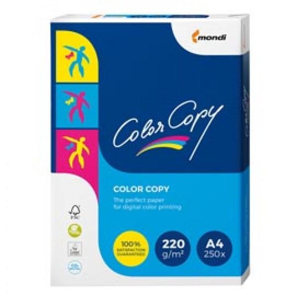 Carta Color Copy - A4 - 220 gr - bianco - Mondi - conf. 250 fogli