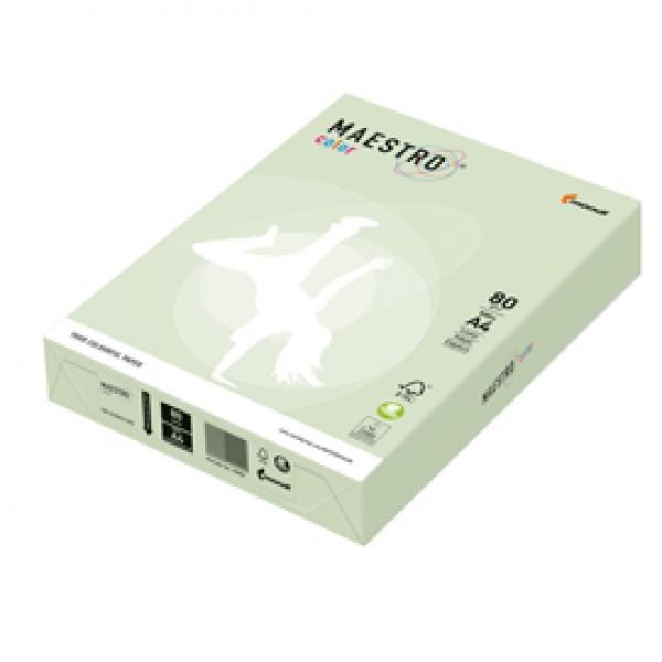 CARTA MAESTRO COLOR A4 210x297mm 80gr 500fg VERDE TENUE GN27 MONDI