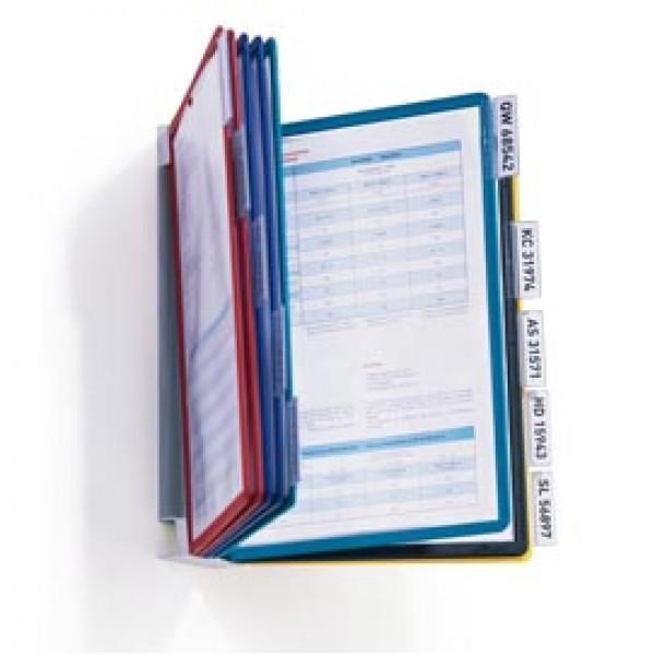 Leggio da parete Vario® Wall 10 - 10 pannelli Sherpa® inclusi - colori assortiti - Durable