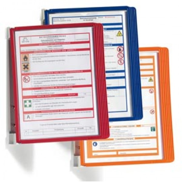 Leggio da parete Vario® Wall 5 - 5 pannelli Sherpa® inclusi - arancione - Durable