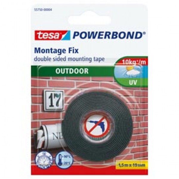 Nastro biadesivo Tesa® Powerbond - per esterni - 19 mm x 1,5 mt - bianco - Tesa®