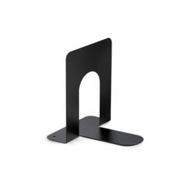 Coppia reggilibri - metallo - 12,7x16,5x16,5 cm - nero - Plastidea