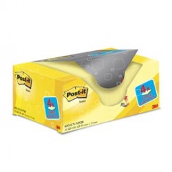 VALUE PACK 16+4 BLOCCO 100fg Post-it Giallo Canary 38x51mm 72GR 653CY-VP20 - 653CY-VP20